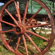 Wagon And Wheel Art Print