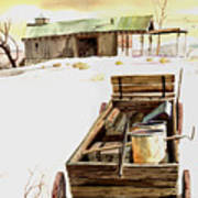 Wagon At White Sands Art Print