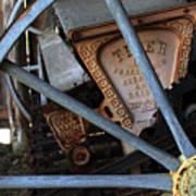 Wagon Wheel And Grass Seeder Art Print