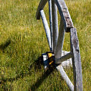 Wagon Wheel In Grass Art Print