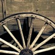 Wagon Wheel - Old West Trail N832 Sepia Art Print