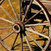Wagon Wheel Art Print by Perry Webster