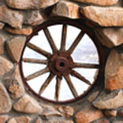 Wagon Wheel Window Art Print