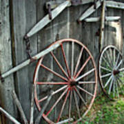 Wagon Wheels Art Print