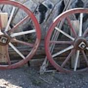 Wagon Wheels. Art Print