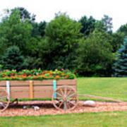 Wagon With Flowers Art Print