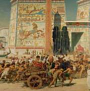 Wagons Detail From Israel In Egypt Art Print by Sir Edward John Poynter