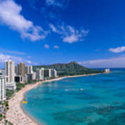Waikiki And Diamond Head Art Print