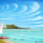 Waikiki Art Print by Jerome Stumphauzer