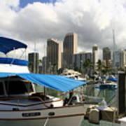 Waikiki Port Art Print