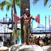 Waikiki Statue - Duke Kahanamoku Art Print