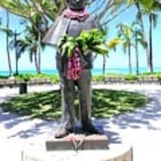 Waikiki Statue - Prince Kuhio Art Print