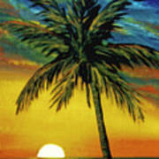 Waikiki Sunset #38 Art Print