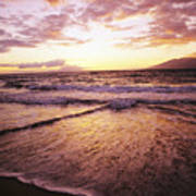 Wailea Beach At Sunset Art Print