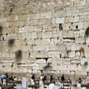 Wailing Wall In Jerusalem Art Print