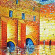 Wailing Wall Original Palette Knife Painting Art Print