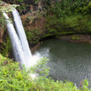 Wailua Falls, Kauai Art Print