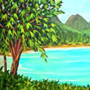 Waimanalo Beach Oahu #385 Art Print