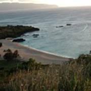 Waimea Bay And Kaiena Point Art Print
