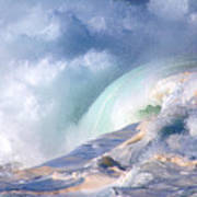 Waimea Bay Shorebreak Art Print