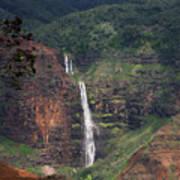 Waimea Canyon Waterfall Art Print