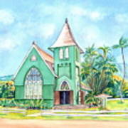 Wai'oli Hui'ia Church Art Print