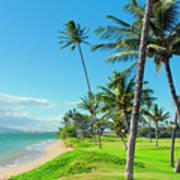 Waipuilani Beach Kihei Maui Hawaii Art Print