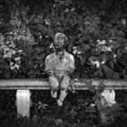 Waiting By The Garden Art Print