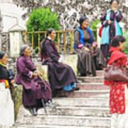 Waiting For The Karmappa Lama Art Print
