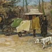Waiting In A Car Park  Willem De Zwart  1872   1931 Art Print
