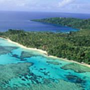 Wakaya Island Aerial Art Print