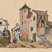 Walk Through Town Classic Art Print