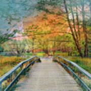 Walk To The Lake In Watercolors Art Print