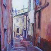Walking Around Menton France Art Print