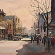Walking In The Shadows - Fond Du Lac Art Print by Ryan Radke