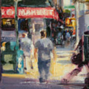 Walking In The West Village Art Print