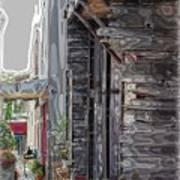 Walking Old Town Art Print