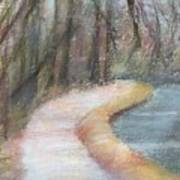 Walking The C And O Canal Art Print