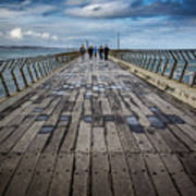 Walking The Pier Art Print