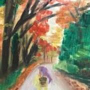 Walking Through The Woods Art Print