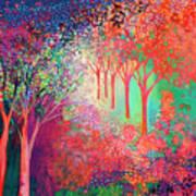 Walking Toward The Light Art Print