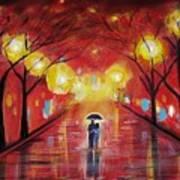 Walking With My Love Art Print