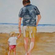 Walking With Pops Art Print