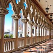 Walkway At The Venetian Hotel Art Print