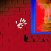 Wall Hand Face Art Print