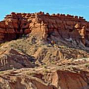 Wall Of Goblins Along  Carmel Canyon Trail In Goblin Valley State Park, Utah   Art Print