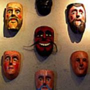 Wall Of Masks 2 Art Print