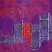 Wall Of Violet Textures Art Print