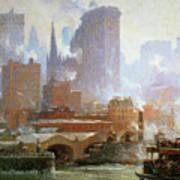 Wall Street Ferry Ship Art Print