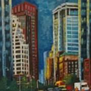 Wall Street Art Print by Milagros Palmieri